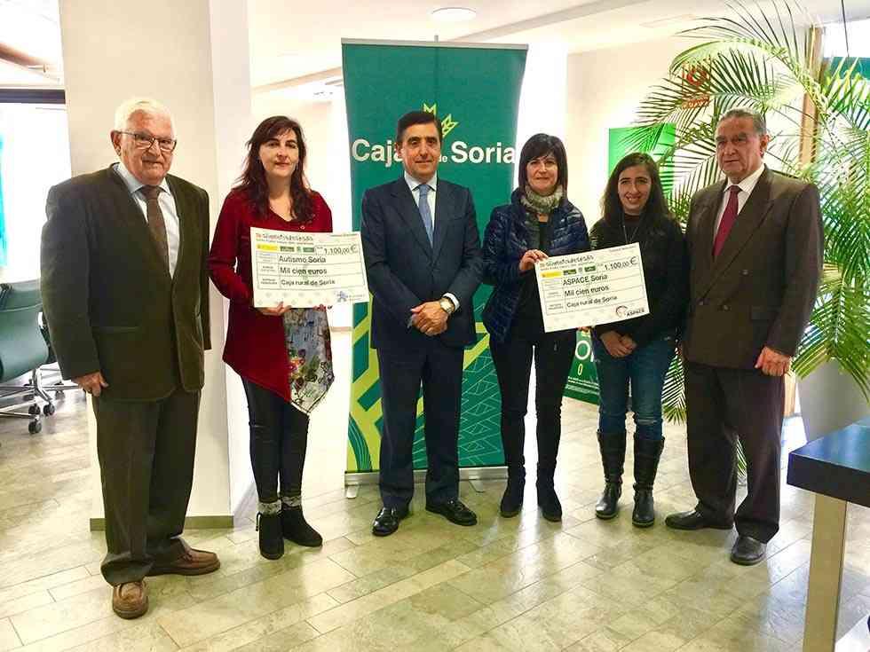 ASPACE y la Asociación de Autismo reciben la recaudación de la I Marcha de la Dieta Mediterránea